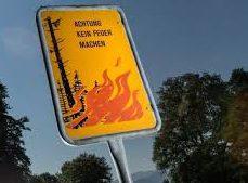 Danger d'incendies de forêt – appel à la prudence