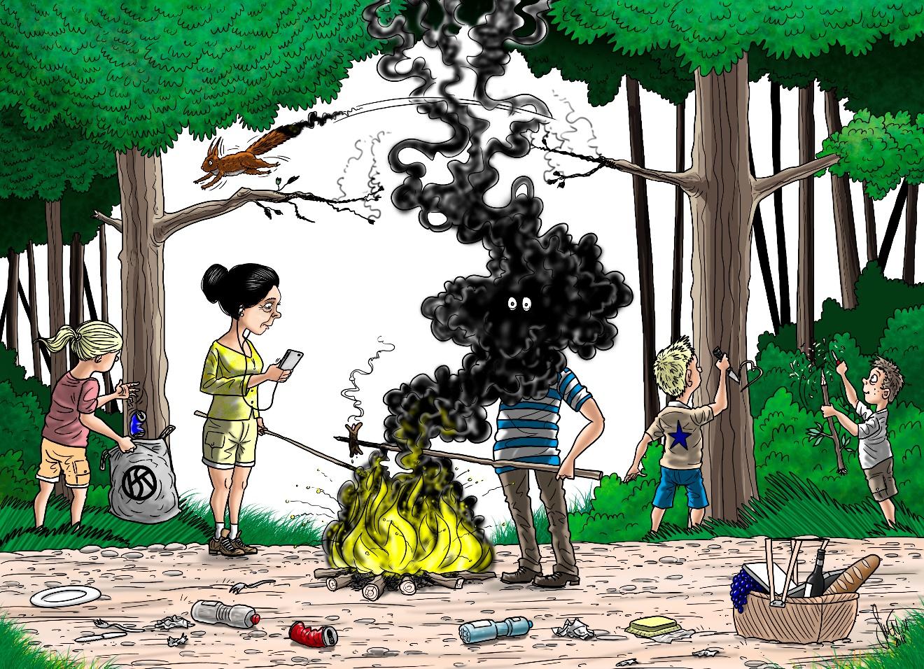Grillez vos cervelats, pas la forêt